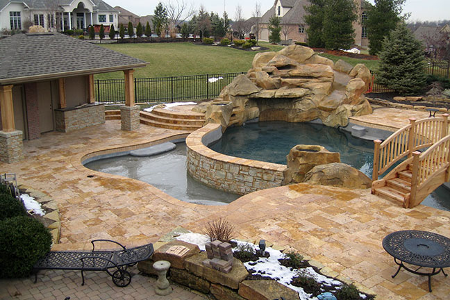 Gold Patio with Pool