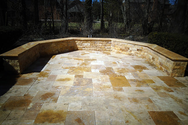 Gold Patio and Bench