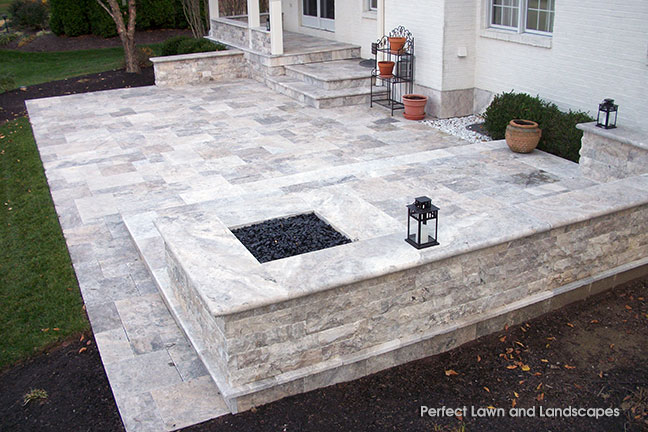 Silver Patio and Fire Pit