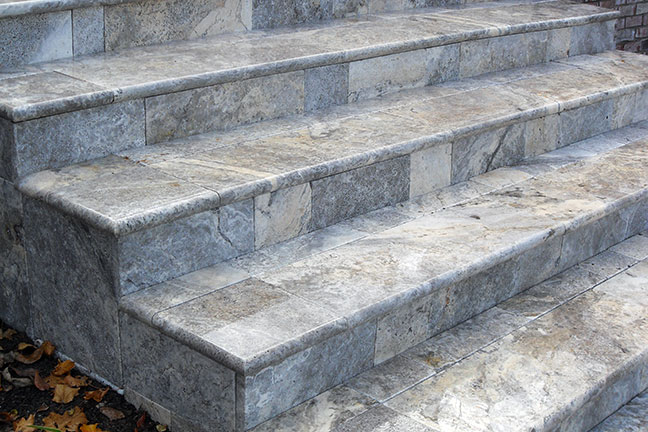 Travertine Silver Steps