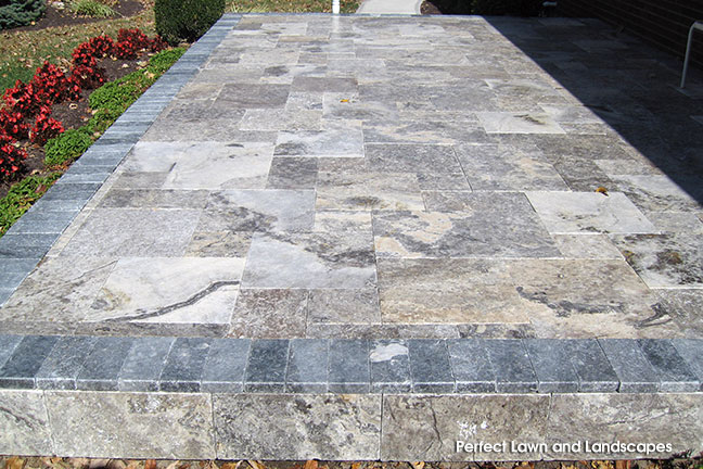 Silver Patio and Blue Marble border