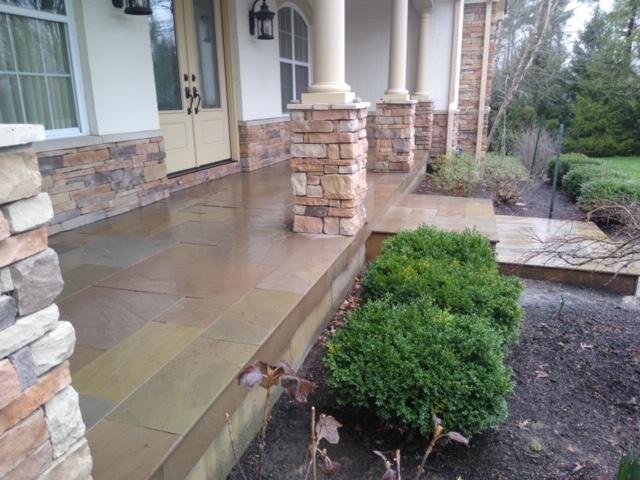 Chestnut Sandstone Porch