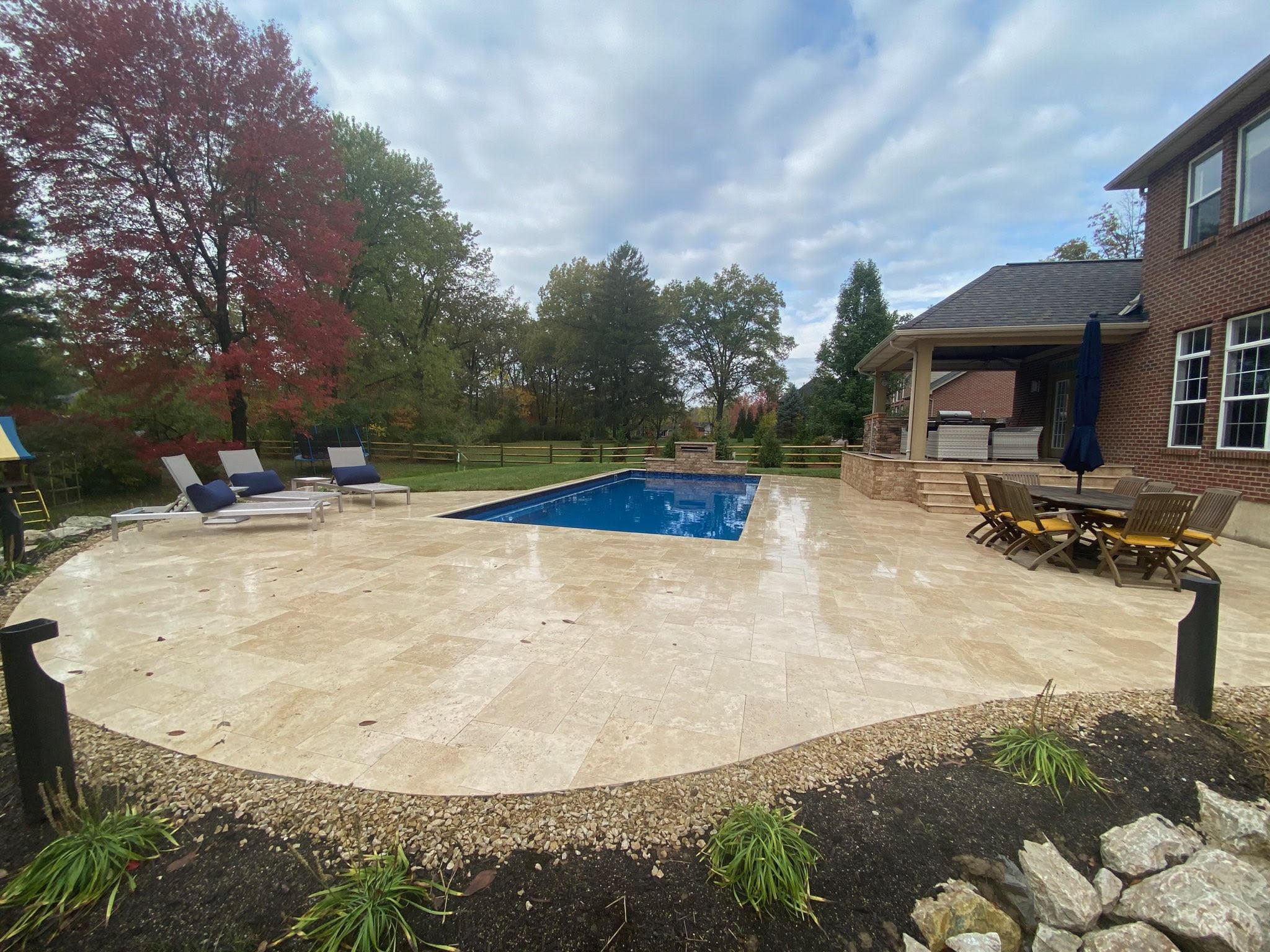 Walnut Pool Deck