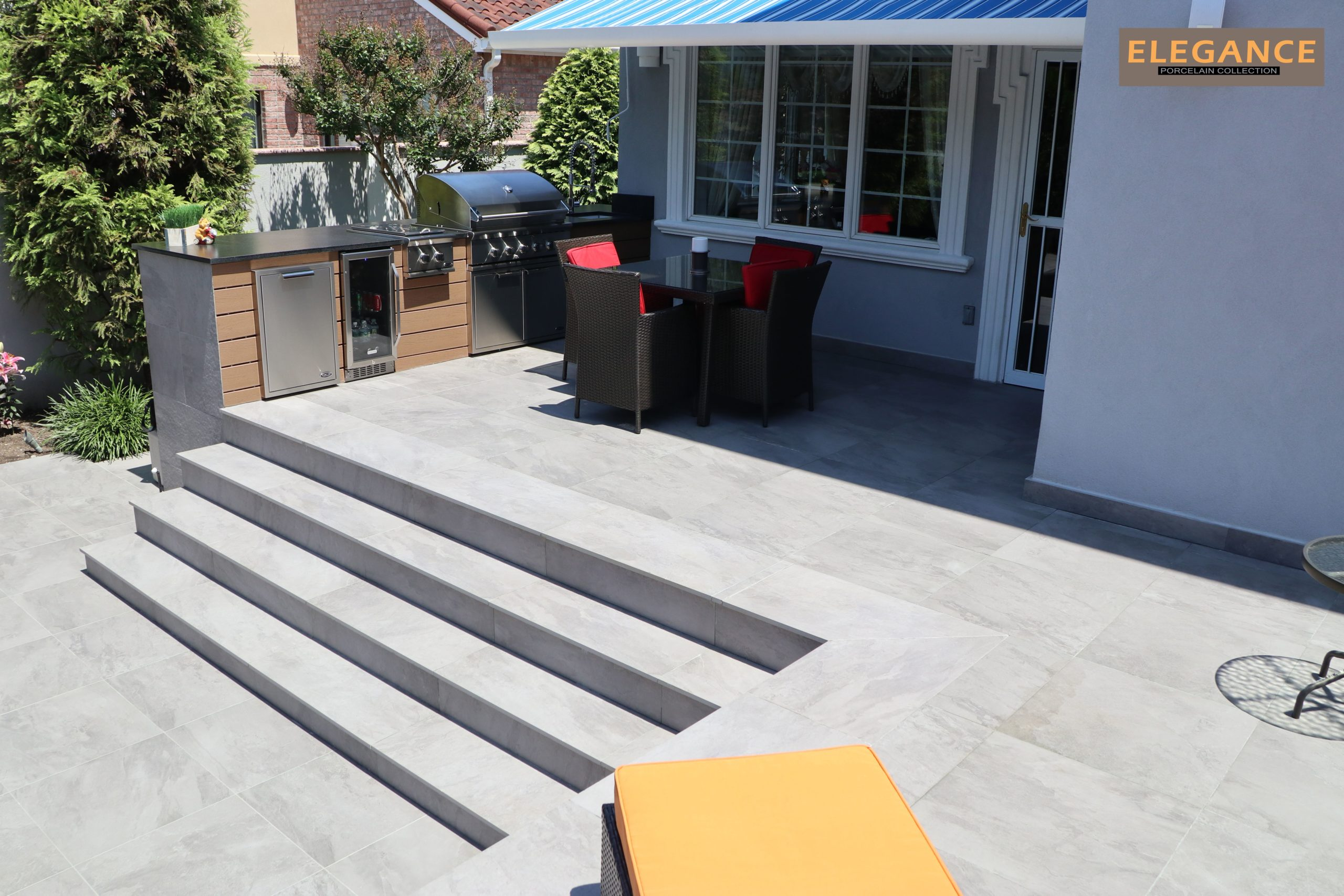 Porcelain Patio and Steps