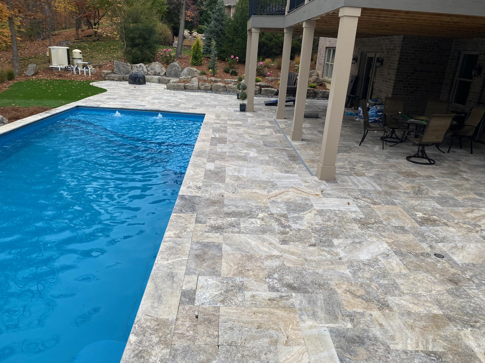 Silver Pool Deck